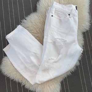 Lucky White Distressed Boyfriend Jeans